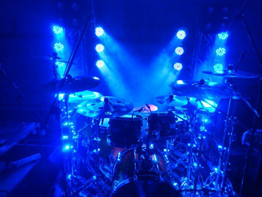 Lighting on a drum kit