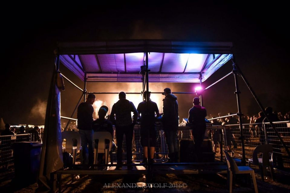 sound engineering at cranked up festival