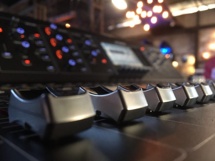 an image of one of our sound desks